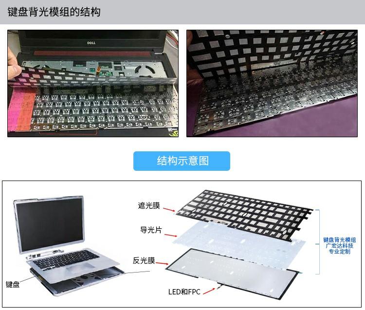 键盘背光模组的结构